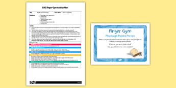 EYFS Playdough Potato People Finger Gym Plan and Resource Pack - EYFS, Early Years, fine motor skills, Physical Development, vegetables