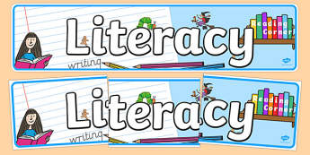 EYFS Literacy Display Banne - literacy, banner, EYFS