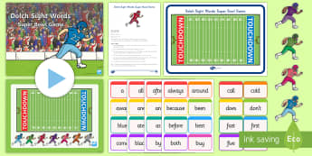 Dolch Sight Words Super Bowl 2017 Game - Super Bowl,2017, spell, read, write