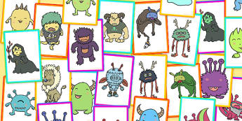 Monster Compare and Contrast Activity Cards - monster, cards, compare