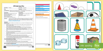 EYFS Shape Alive! Adult Input Plan and Resource Pack - Beginning to use mathematical names for 'solid' 3D shapes , and mathematical terms to describe s