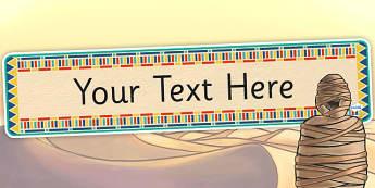 Ancient Egyptian Themed Editable Banner Template - egypt, banner