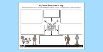 Castles Topic Research Map - research map, castles, research