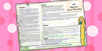 Rapunzel Lesson Plan Ideas KS1 - rapunzel, lesson plan, KS1