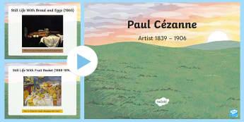 KS2 Paul Cezanne Information PowerPoint - KS2, year 3, year 4, year 5, year 6, yr 3, yr 4, yr 5, yr 6, art, famous artists, artists, Impressio
