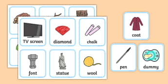 Materials Sorting Cards Activity - materials, science, matching cards, sorting cards, investigation, material properties, shiny, dull, rough, smooth, bumpy, wood, plastic, glass, stone, transparent