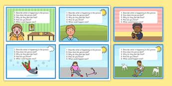 Inference Picture Cards - pictures, visual, activity, questions