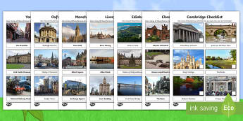 KS1 Summer Fun in the Holidays: City Checklists Activity Pack - sightseeing, tourist, holidays, day trips, cities, family