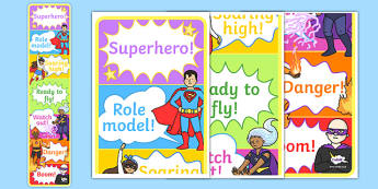 Superhero Themed Behaviour Reward Chart - superhero, behaviour, reward chart