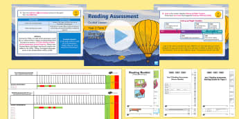 Year 2 Term 1 Paper 2 Reading Assessment Bumper Resource Pack - SATS, SAT, booklet, assess, KS1, fiction, non-fiction, review, papers, read, end of year, test, book