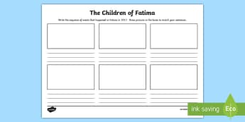 The Children of Fatima Storyboard Template - fatima, jacinta, francisco, lucia, mary, canonisation, saint,Scottish