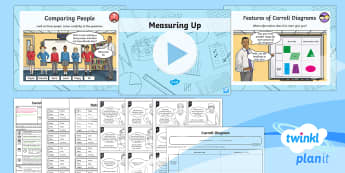 PlanIt Y3 Statistics Lesson Pack Questions About Data (4) - Statistics, Carroll diagram, data handling, sorting, interpreting, Interpret and present data using