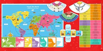 Christmas Around the World Board Game English/Romanian - Christmas Around the World Board Game - christmas, game, chritmas, chriatmas, christms, christams, c