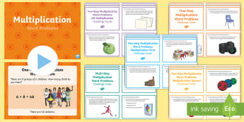 KS2 Multiplication Word Problems Resource Pack - KS2, Maths, Solve problems, including missing number problems, involving multiplication and division