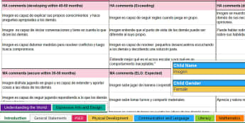 Writing Bank of Differentiated Statements EYFS Areas of Learning and General Report - English/Spanish, KS2, report, writing, bank, statements, differentiated, EYFS, areas, learning, ,Spanish