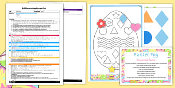 Easter Egg EYFS Interactive Poster Plan and Resource Pack - Easter Shapes, Colours