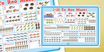 Te Reo Māori Numbers Poster - nz, new zealand, te reo māori, māori, numbers, poster, display