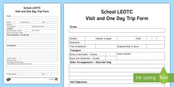 New Zealand LEOTC Day Trip Editable Proforma - New Zealand LEOTC, LEOTC, EOTC, Learning Outside the Classroom, RAMS, RIsk Analysis, Risk Management