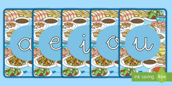 Tarjetas de fonemas - vocales: La comida - comer sano, comida sana, comer saludable, comida saludable, fruta, verdura, dieta saludable, dieta s