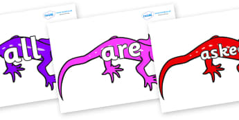 Tricky Words on Geckos - Tricky words, DfES Letters and Sounds, Letters and sounds, display, words