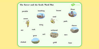 The Sower and the Seeds Word Mat - sower, seed, word mat, parable