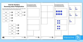 Year 2 Maths Reasoning About Multiplication Homework Go Respond Activity Sheet - year 2, maths, homework, multiplication, inverse, go respond, calculations, worksheet, problem solvi