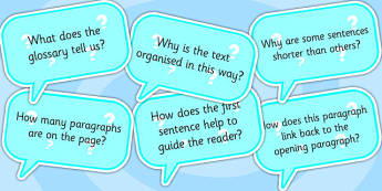 AF4 Guided Reading Question Cards - assessment focus 4, assessment focus reading, af4 reading, assessment focus cards, assessment focus questions, AF4