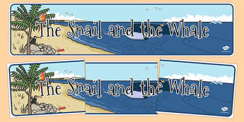The Snail and the Whale Display Banner - the snail and the whale, display banner, display, banner