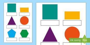 2D Shapes Self Registration Labels - 2D Shapes Poster Welsh - 2d, shapes, poster, display, welsh, cymraeg, shpes, 2d shaes, 2Dshape, 2d s
