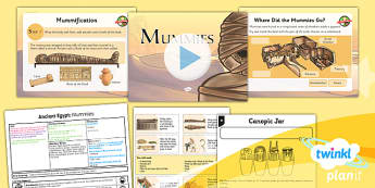 PlanIt - History UKS2 - Ancient Egypt Lesson 3: Mummies Lesson Pack