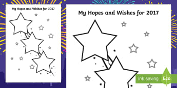 My Hopes and Wishes for 2017 Activity - My Hopes and Wishes for 2016 Activity Sheet - my hopes, wishes, 2016, activity, sheet