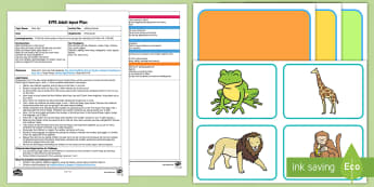 EYFS Adding Animals Adult Input Plan and Resource Pack to Support Teaching on Dear Zoo - Dear Zoo, Rod Campbell, animals, letter to the zoo, addition, add, total, how many?, altogether, gir