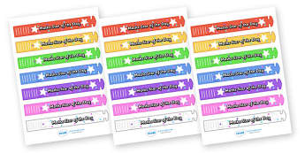 Wristband Awards (Maths Star of the Day) - wristband, band, award, reward, award, certificate, medal, rewards, school reward, star of the day