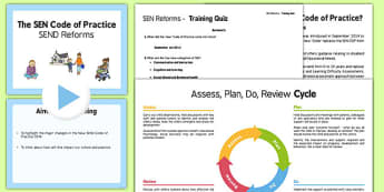 SEN Reforms Training Pack Primary - sen reforms, training, pack, primary