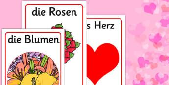 Valentine's Day Display Posters German - german, valentines, day, display, poster