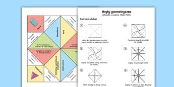 Zabawka z papieru Niebo Piekło Bryły geometryczne - geometria, geometryczne, geometryczna, figura, figury, bryły, trójwymiarowe, bryła, matematyka, o