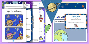 Childminder Space EYFS Resource Pack - Space, child minder, alien, childminding, rocket, planets, astronaut,