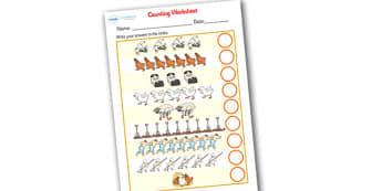 Farmer Duck Counting Sheet - farmer duck, counting sheets, counting, themed counting sheets, counting worksheet, farmer duck worksheet, numeracy, maths