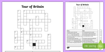 Tour of Britain Crossword
