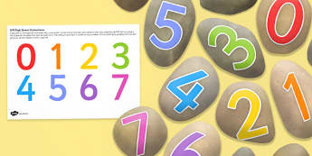 Digit 0 9 Stones - maths, numeracy, role play, numbers, early years, key stage 1, ks1