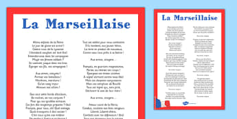 La Marseillaise - french, la marseillaise, display poster, display, poster, national anthem