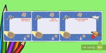 Space Themed Editable Class Welcome Signs English/Romanian - Space Themed Editable Class Welcome Signs - space, space themed welcome signs, EAL,Romanian-translat