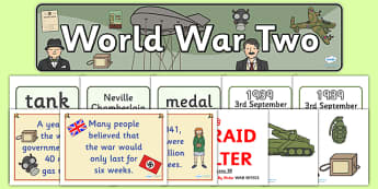 World War Two Display Pack - world war two, display pack, display banner, display photos, resource pack, display lettering, resources, classroom display