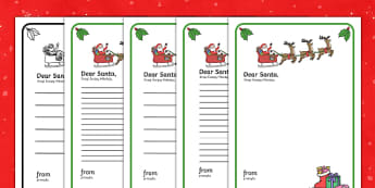 Letter to Santa Template English/Polish - Letter to Santa - Christmas, xmas, letter, santa, present, father christmas, writing aid, tree, adve