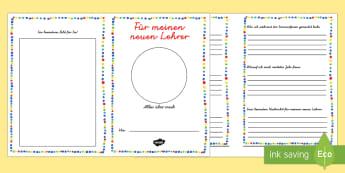 Für meinen neuen Lehrer Mini Buch - Für meinen neuen Lehrer, Mini-Buch, Büchlein, Heft, Album, Lehrer, Über mich, Übergang, neues Sc