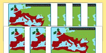 Roman Empire Celts and Romans Display Maps - romans, celts, maps
