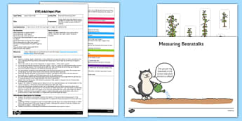 Beanstalk Measuring Game EYFS Adult Input Plan and Resource Pack to Support Teaching on Jasper's Beanstalk - EYFS, Early Years, Jasper's Beanstalk, Mick Inkpen, Nick Butterworth, Maths, Shape, Space and Measure, plants, growth