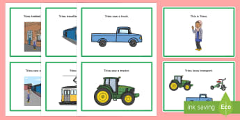 Initial 'tr' Word Story Cards - cluster reduction, cluster simplification, phonology, articulation, speech sounds