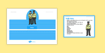 Foundation PE (Reception) Traffic Police Cool-Down Activity Card - physical activity, foundation stage, physical development, games, dance, gymnastics