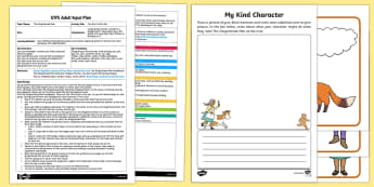 EYFS Kind Character Adult Input Plan and Resource Pack - The Gingerbread Man, Traditional Tales, psed, pshe, circle time, kindness, characters, creating, ima